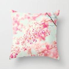 Fading Cherries Throw Pillow