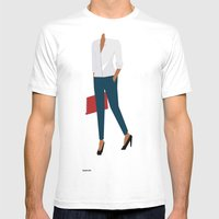 White Shirt B Mens Fitted Tee White SMALL