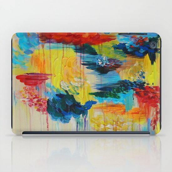 VANCOUVER RAIN - Stunning Rainbow Colorful Bold bright Rain Clouds Stormy Day Wow Abstract Painting iPad Case