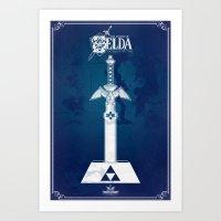 Master Sword Art Print