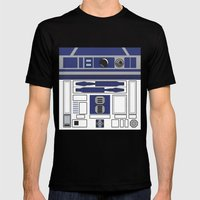 R2D2 - Starwars Mens Fitted Tee Black SMALL