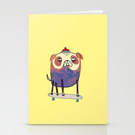 Pug Dude. Stationery Card