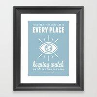 Proverbs 15:3 Framed Art Print