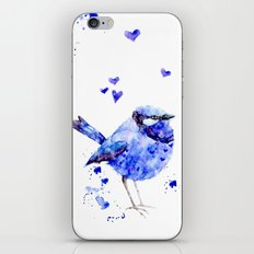Little blue bird iPhone & iPod Skin