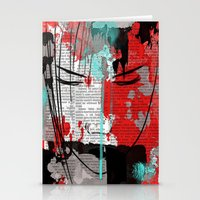 anime Stationery Cards featuring Anime 1 by Del Vecchio Art by Aureo Del Vecchio