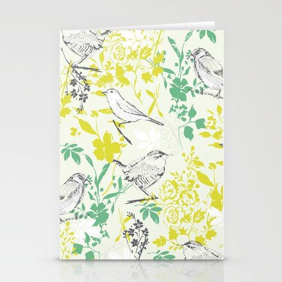Garden Birds Stationery Card