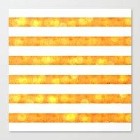 Bokeh Stripes Orange And… Canvas Print