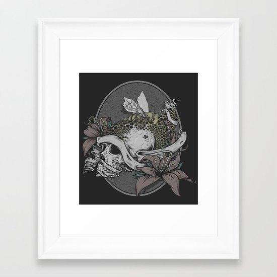 Skull Bee  Framed Art Print