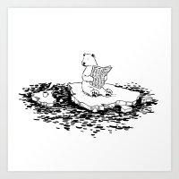 Polar Bear Monday Art Print