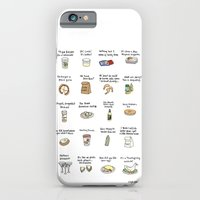 iPhone & iPod Case featuring Foods of Arrested Development - Season 4 by Tyler Feder