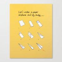 Paper Airplane Canvas Print