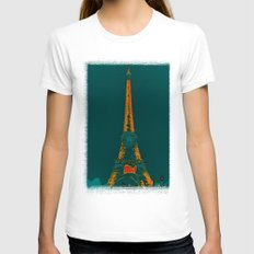 Tour Eiffel Womens Fitted Tee White SMALL