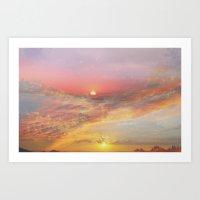 Sunrise & Sunset Art Print