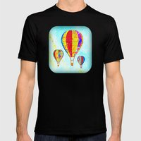 Beautiful Balloons Mosai… Mens Fitted Tee Black SMALL