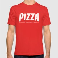 Thrash Mens Fitted Tee Red SMALL