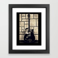 Be Your Song and Rock On in Black Framed Art Print