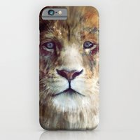portrait iPhone & iPod Cases featuring Lion // Majesty by Amy Hamilton