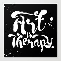 Art Is Therapy Canvas Print