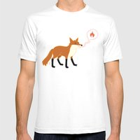 Fox With Pink Lips Mens Fitted Tee White SMALL