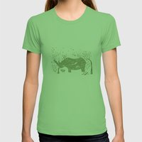 Black Rhino Womens Fitted Tee Grass SMALL