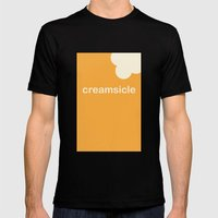 Creamsicle (First Bite) Mens Fitted Tee Black SMALL