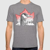 Canada Goose on Maple Leaf (with some red) Mens Fitted Tee Tri-Grey SMALL