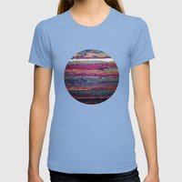 The Magic Carpet Womens Fitted Tee Tri-Blue SMALL