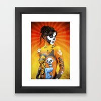VooDoo Woman Framed Art Print