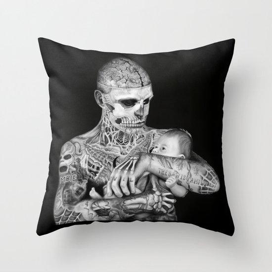 ZOMBIE BOY Throw Pillow