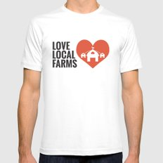 Love Local Farms Mens Fitted Tee SMALL White