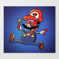 Zombie Mario Canvas Print