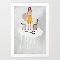 ON / ... | Collage Art Print