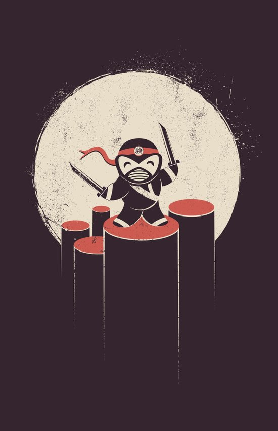 The Happiest Ninja in Town. Canvas Print