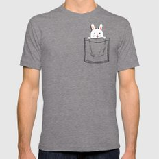 My Pet Mens Fitted Tee Tri-Grey SMALL