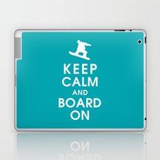 Keep Calm and Board On Laptop & iPad Skin