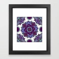 Third Eye Chakra Mandala Framed Art Print