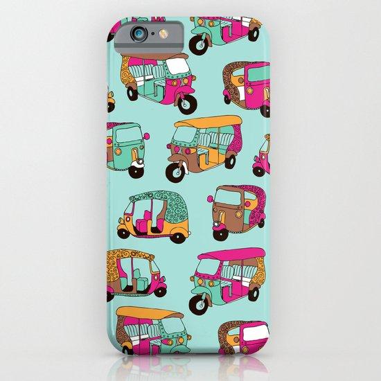 India rickshaw illustration pattern iPhone & iPod Case