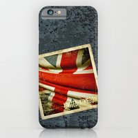 Sticker With UK Flag iPhone 6 Slim Case