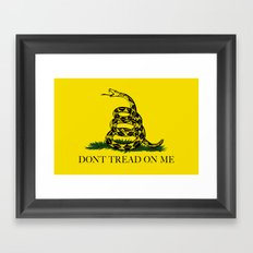 Don't Tread On Me -The Gadsden Flag Framed Art Print