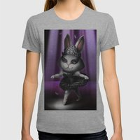 Black swan bunny Womens Fitted Tee Athletic Grey SMALL