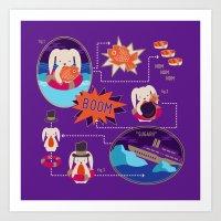 BUNNY SHIPWRECK FLOWCHAR… Art Print