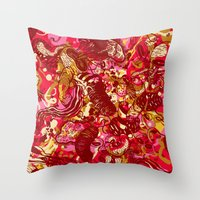 Red Hot Day Species Throw Pillow
