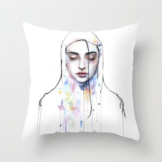 Habibi (nudity) Throw Pillow