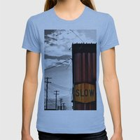Slow Your Roll Womens Fitted Tee Athletic Blue SMALL