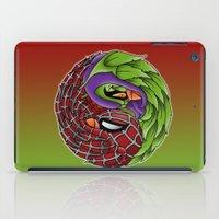 spider yin yang iPad Case