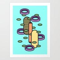 Hot Dog Plain Art Print
