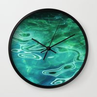 Water / H2O #67 (Water Abstract) Wall Clock