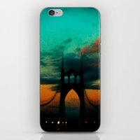 Bridge to Portland - St. Johns - On a Warm October Evening iPhone & iPod Skin