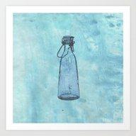 Bottle Blue Art Print