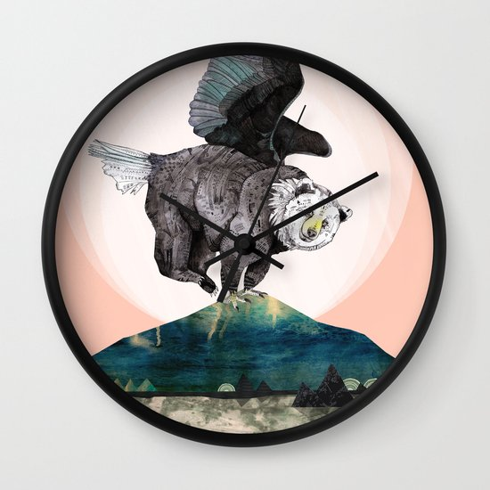 Beargle // half bear half eagle Wall Clock